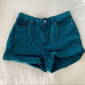 BDG mom shorts - teal